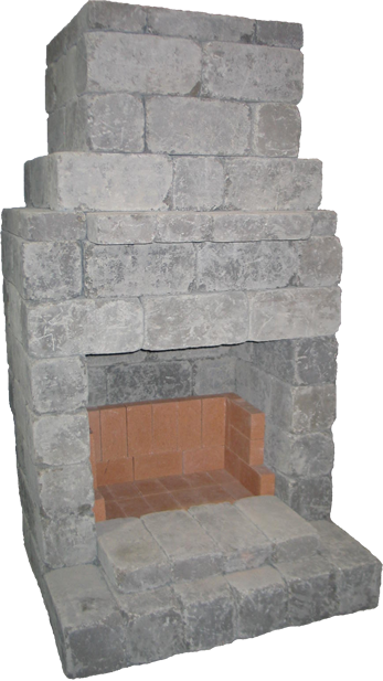old stone fireplace.  Old Stone Block Firepits