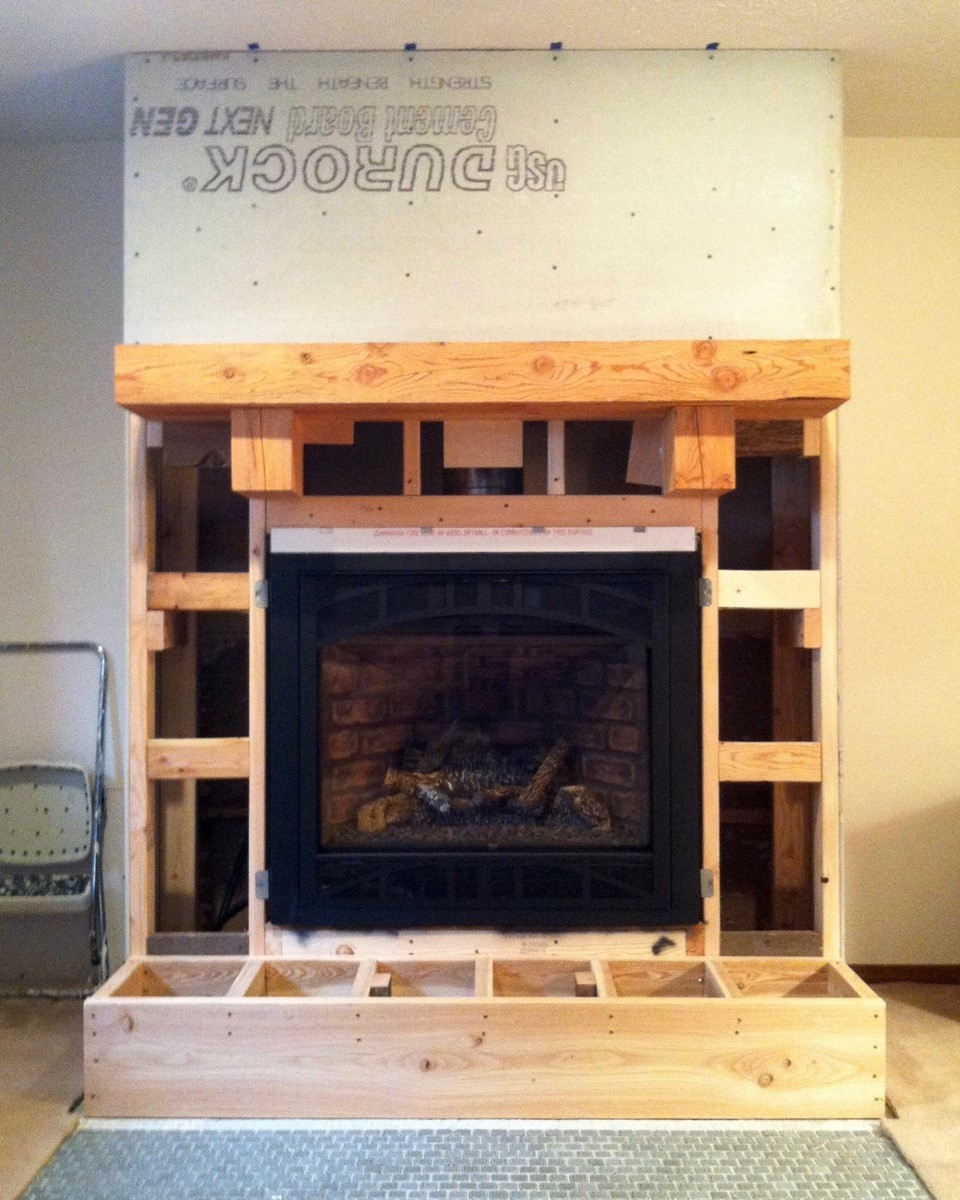 Wood Stove to Gas Fireplace Remodel framing